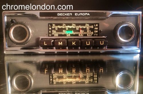 becker europa vintage chrome classic car fm radio mp3. Black Bedroom Furniture Sets. Home Design Ideas