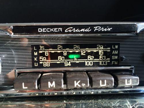becker grand prix wonderbar vintage chrome classic car fm. Black Bedroom Furniture Sets. Home Design Ideas