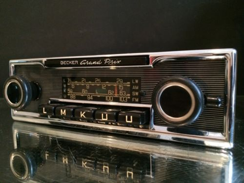 becker grand prix wonderbar vintage classic car fm radio. Black Bedroom Furniture Sets. Home Design Ideas