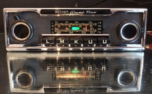 becker grand prix wonderbar vintage classic car fm radio. Black Bedroom Furniture Sets. Home Design Ideas