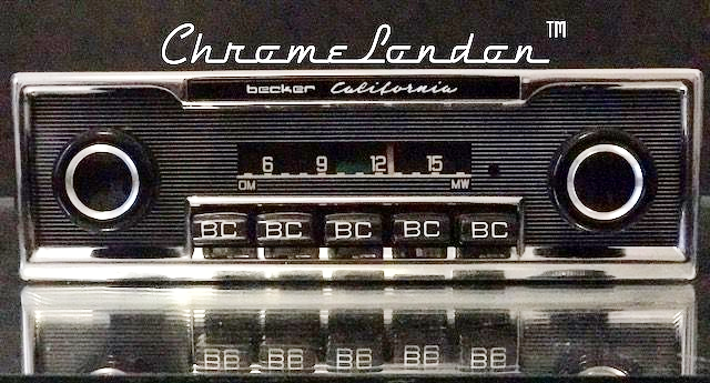 BECKER CALIFORNIA Vintage Chrome Classic Car Radio BLUETOOTH