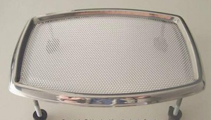 "CHROME SPEAKER GRILL 8"" 20CM NEW NOS - UNIVERSAL"