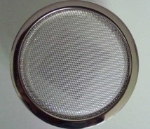 "CHROME SPEAKER GRILL ROUND 5"" 13CM NEW - JAG ETYPE & UNIVERSAL"